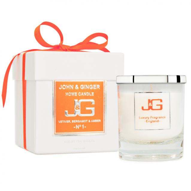 John And Ginger Scented Boutique Candle Number 1