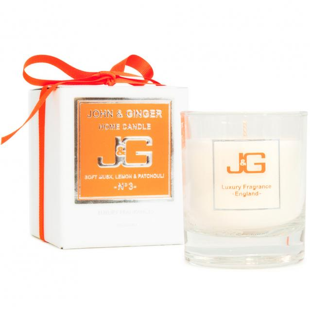 John And Ginger Scented Home Candle Number 3