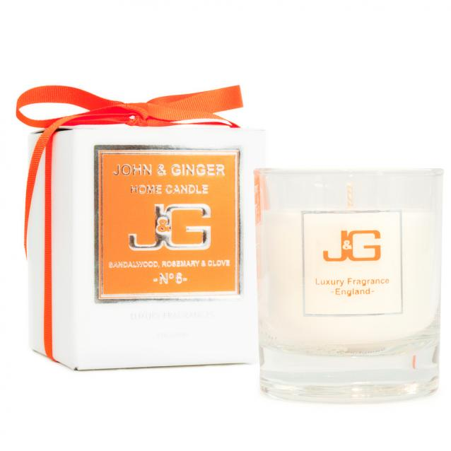 John And Ginger Scented Home Candle Number 6