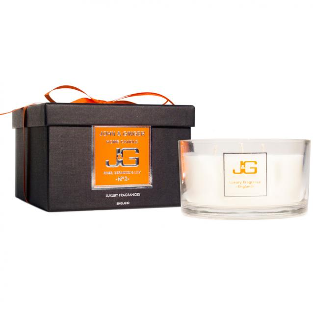 John And Ginger Scented 3 Wick Spa Candle Number 2