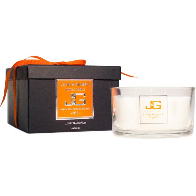John And Ginger Scented 3 Wick Spa Candle Number 5